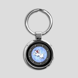 Snorkel Westies Round Keychain