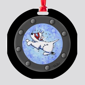 Snorkel Westies Round Ornament