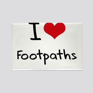 I Love Footpaths Rectangle Magnet