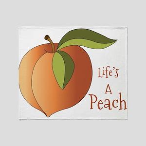 Lifes A Peach Throw Blanket