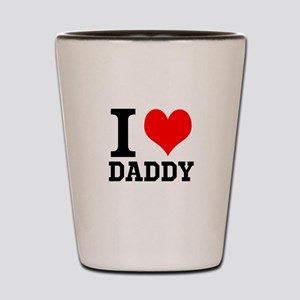 """Your Own Text """"I Heart"""" Shot Glass"""