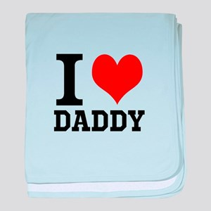 """Your Own Text """"I Heart"""" baby blanket"""