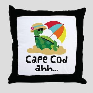 Cape Cod Massachusetts Throw Pillow