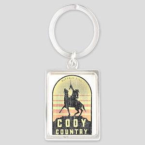 Vintage Cody Country Portrait Keychain