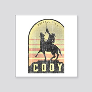"Vintage Cody Country Square Sticker 3"" x 3"""