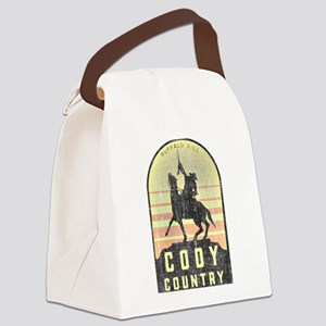 Vintage Cody Country Canvas Lunch Bag