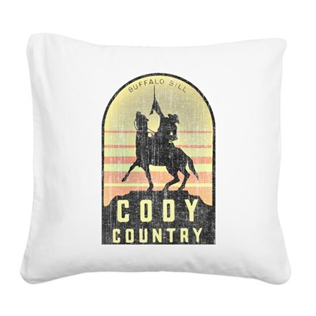 Vintage Cody Country Square Canvas Pillow