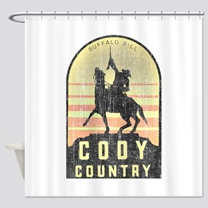 Vintage Cody Country Shower Curtain
