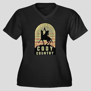 Vintage Cody Country Women's Plus Size V-Neck Dark