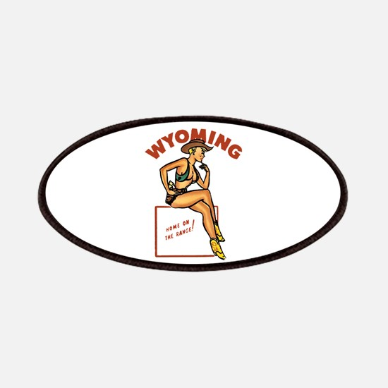 Vintage Wyoming Pinup Patches