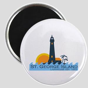 St. George Island - Lighthouse Design. Magnet