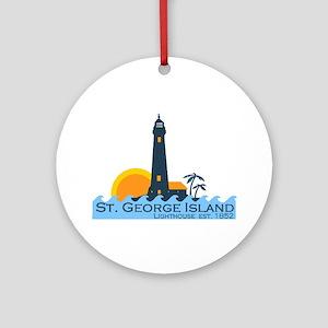 St. George Island - Lighthouse Design. Ornament (R