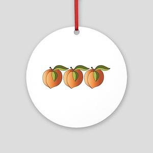 Row Of Peaches Ornament (Round)
