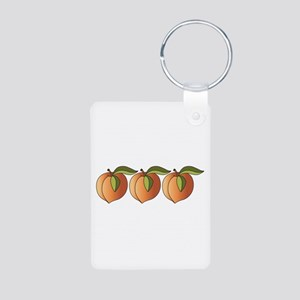 Row Of Peaches Keychains
