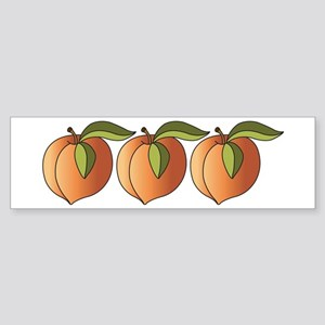 Row Of Peaches Bumper Sticker