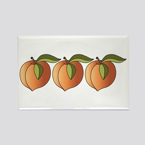 Row Of Peaches Rectangle Magnet