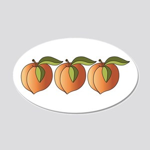 Row Of Peaches Wall Decal
