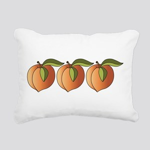 Row Of Peaches Rectangular Canvas Pillow