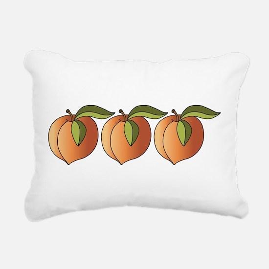 Row Of Peaches Rectangular Canvas Pillow