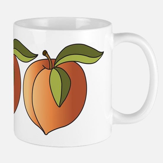 Row Of Peaches Mug