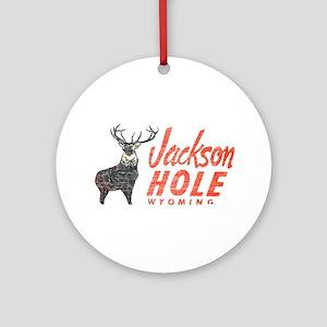 Vintage Jackson Hole Ornament (Round)