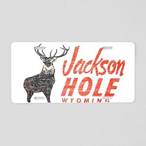 Vintage Jackson Hole Aluminum License Plate