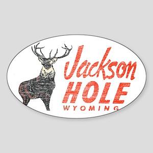 Vintage Jackson Hole Sticker (Oval)