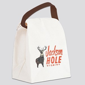 Vintage Jackson Hole Canvas Lunch Bag
