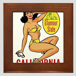 Vintage Cali Pinup Framed Tile
