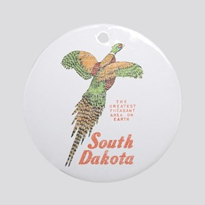 South Dakota Pheasant Ornament (Round)