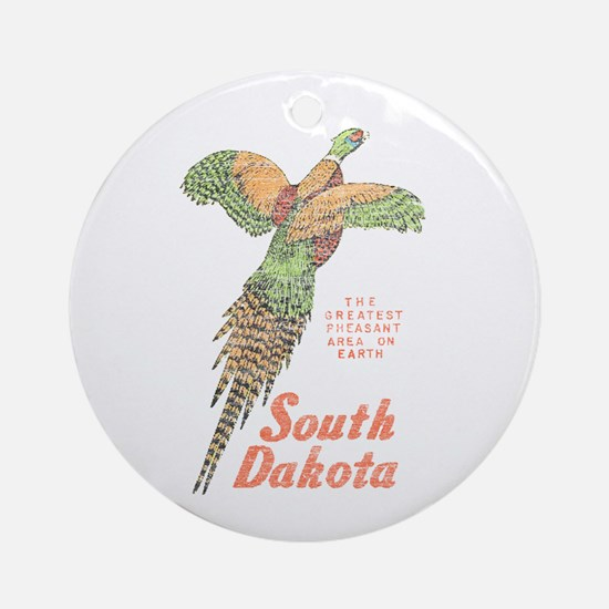 South Dakota Pheasant Ornament (Round)