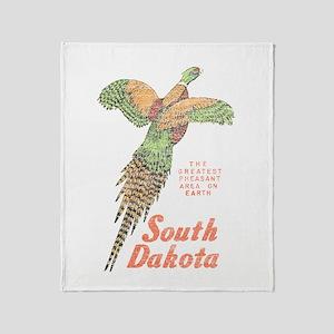 South Dakota Pheasant Throw Blanket