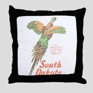South Dakota Pheasant Throw Pillow