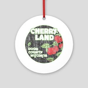 Door County Cherryland Ornament (Round)