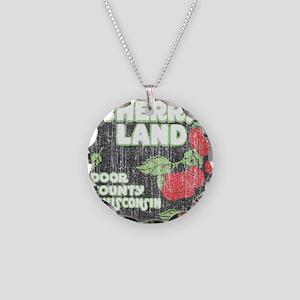 Door County Cherryland Necklace Circle Charm