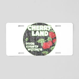 Door County Cherryland Aluminum License Plate