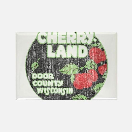 Door County Cherryland Rectangle Magnet