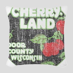 Door County Cherryland Woven Throw Pillow