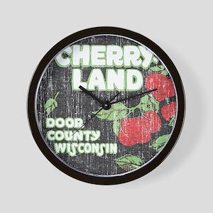 Door County Cherryland Wall Clock