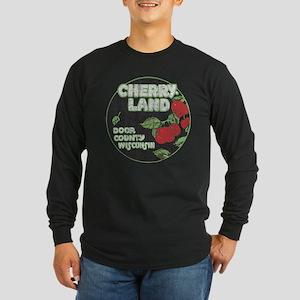 Door County Cherryland Long Sleeve Dark T-Shirt