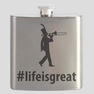 Trombone Player Flask