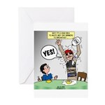 Indy 500 Winner Breakfast Faux Pas Greeting Cards