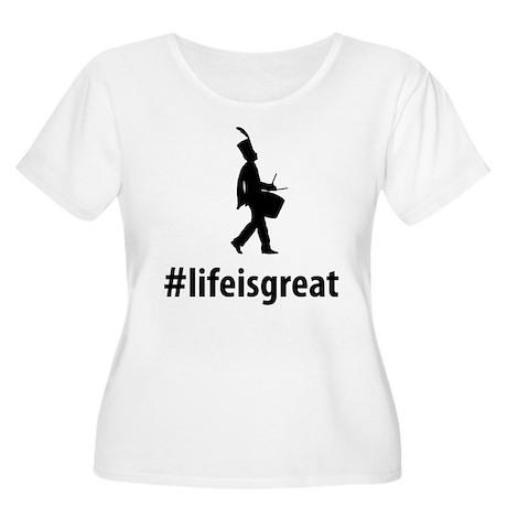Snare Drummer Women's Plus Size Scoop Neck T-Shirt