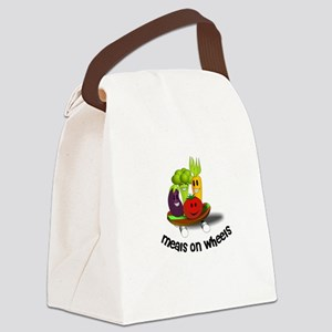 Funny Meals on Wheels Canvas Lunch Bag