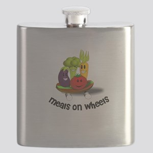 Funny Meals on Wheels Flask