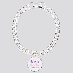 One Fabulous Daughter-In-Law Charm Bracelet, One C