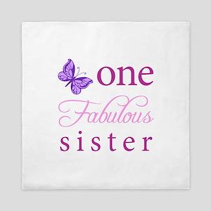 One Fabulous Sister Queen Duvet