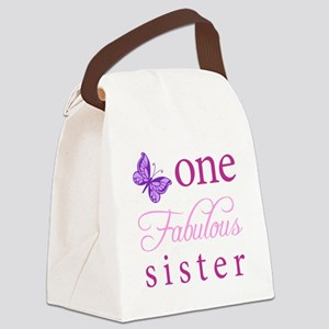 One Fabulous Sister Canvas Lunch Bag