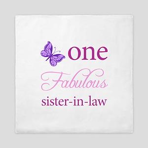 One Fabulous Sister-In-Law Queen Duvet