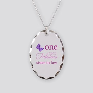 One Fabulous Sister-In-Law Necklace Oval Charm